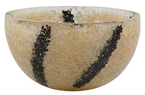 HARMONIZE Talladas Mano Negro Tourmoline Y Rose Bowl, la Piedra Del CUARZO curativo de Las Piedras preciosas