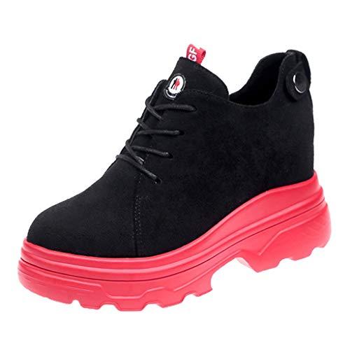 MuSheng Sportschuhe Damen Turnschuhe Laufschuhe Sneaker Frauen mischen Farben Mode Plattformen Med Cool Lazy Casual Lace Up Winterschuhe