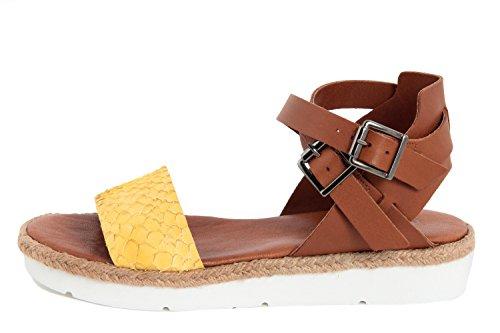 Minevaganti sandalo basso giallo/marrone eu 38