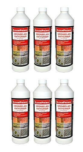 6 x 1 litro = 6 litri diserbante per erbacce 1000 ml concentrato rmuovere le erbacce il fango le alghe da legno vetro calcestruzzio pietre pietre naturali marmo lastre, facciate, sentieri, terrazzi, cortili, residui climatici, stratificazioni, fiori