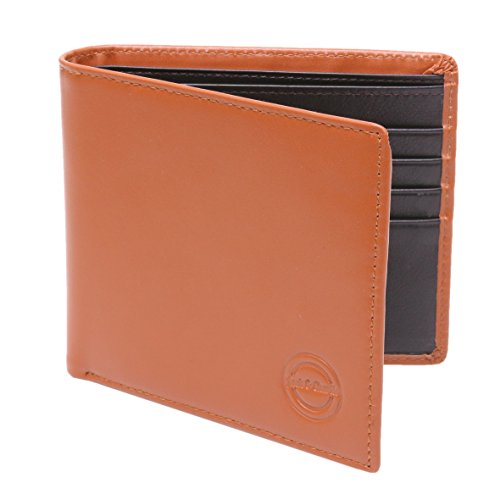new-premium-leather-designer-bifold-mens-wallet-with-8-card-slots-tan-brown