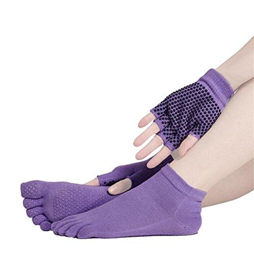 SANIQUE Mujer Deportes Yoga Pilates Calcetines y...