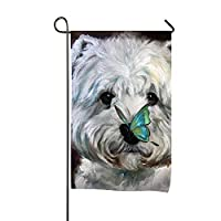 Bozh Welcome Garden Flag Westie Terrier Dog Double-sided, Polyester, Yard Flag to Brighten Up Your Home