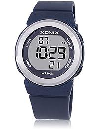 Reloj electrónico digital de múltiples funciones de los ni?os,Jalea 100 m led resina resistente al agua correa alarma cronómetro chicas o chicos lindos moda reloj de pulsera-G