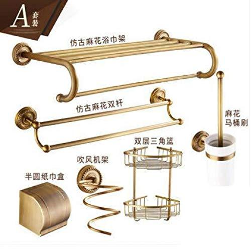 JJHR Einfache Antike Kupfer Ring Basis Bad-Accessoires Badetuch Regal Handtuchhalter Papierhalter Tuch Haken -