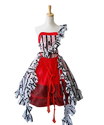 MingoTor Prinzessin Dress Rot Kleid Cosplay Kostüm Damen ()