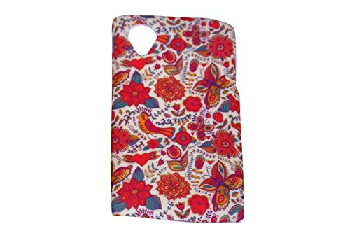 Floral Fashion Designer Print Snap-On Hard Slim Back Flexible Bumper Case Cover For Google LG Nexus 5  available at amazon for Rs.99