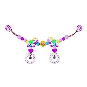 Goki Pram Chain Horses with Clips Juguete Colgantes para bebé - Juguetes Colgantes para bebé, Metal, Madera, Cochecito/Carrito de bebé, Niño/niña, Alemania, 40 cm