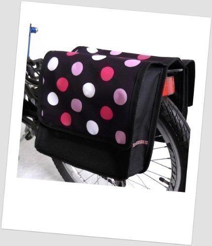 T-JOY-43 Fahrradtasche JOY dots 3 black Kinderfahrradta… | 04250675219498