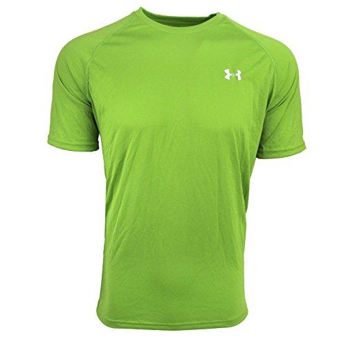 Under Armour Herren Fitness T-Shirt UA Tech Tee Shamrock Green/White