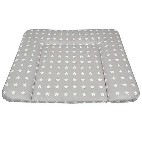 Asmi Wickelauflage Soft 72/85 cm Sterne weiß/grau