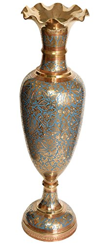 Exotic India Decorado jarrón Esmalte Trabajo–Estatua