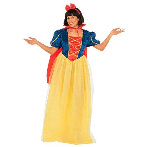 Amakando Schneewittchen Kostüm Märchen Prinzessin Kleid XL (46/48) Prinzessinkleid Märchenkostüm Damen Prinzessinnen Faschingskostüm Snow White Karnevalskostüm Verkleidung Karneval Kostüme ()
