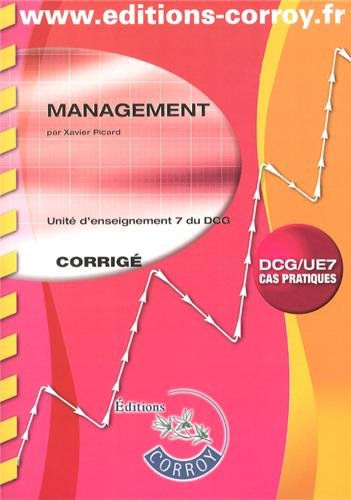 Management UE 7 du DCG : Corrigé