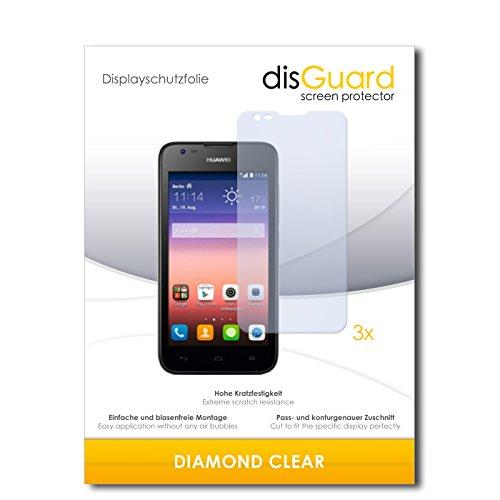 3 x disGuard® Schutzfolie Huawei Ascend Y550 Bildschirmschutz Folie
