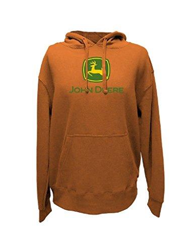 John Deere Top of The World Herren Logo Hoodie-Herren, Herren, Light Pumpkin, X-Large John Deere Hoodie Sweatshirt