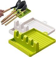 Kitchen Utensil Rest, Spoon Rest Kitchen Utensil Set Upgrade Hanging Design Heat-Resistant Free Spoon Holder f