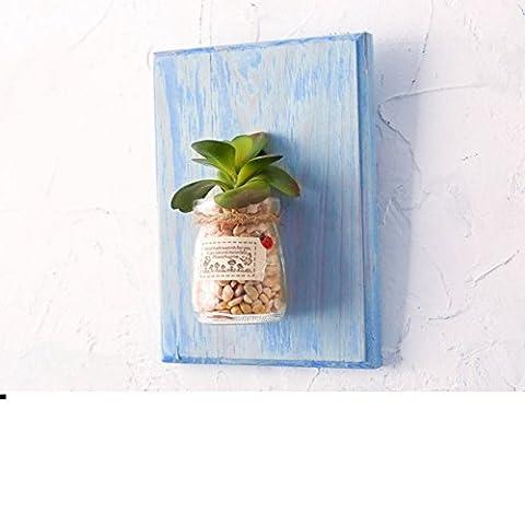 LIUYU Creative Plant Pot Wall Hanging / Tea Shop Décorations sur le Mur / Living Wall Wall Hanging-G,P