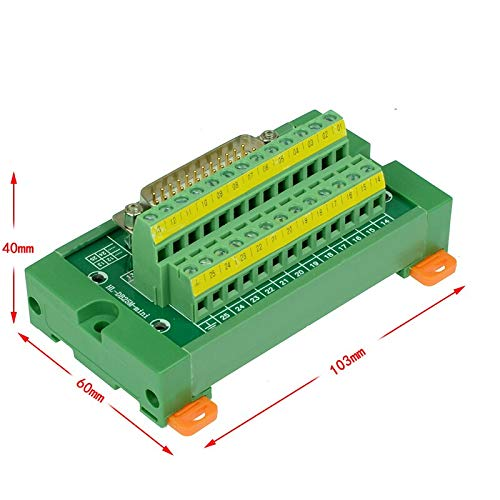 Ochoos DB25 Mini D-Sub DIN-Schienenmontage, Schnittstellenmodul, DB25 männlich, Mini Breakout Board -