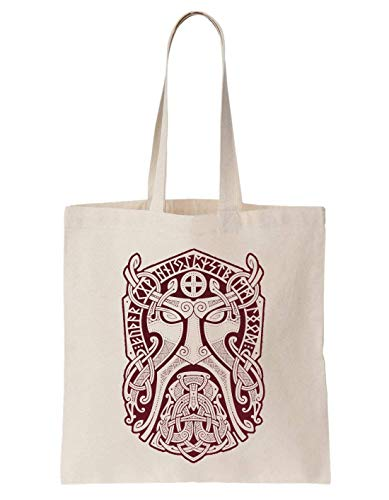 KRISSY Thor God Mask Schultertasche Tote Bag