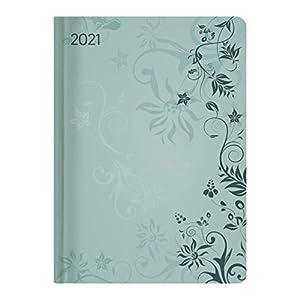 Ladytimer Turquoise Flowers 2021 - Taschenkalender A6 (11x15 cm) - Weekly - 192 Seiten - Notiz-Buch - Termin-Planer - Alpha Edition