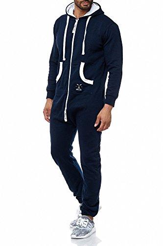 BELLIS®Herren Jumpsuit Jogger Jogging Anzug Trainingsanzug Overall 20118 Navy