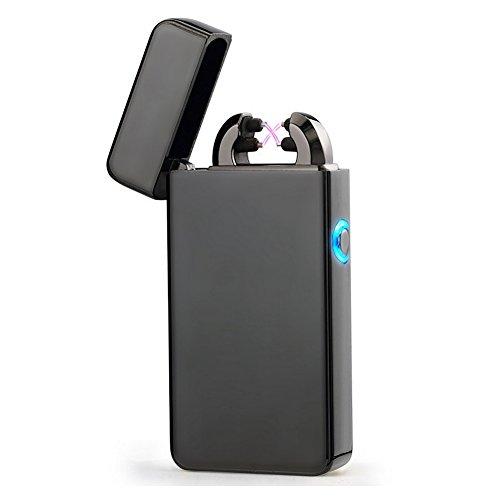 USB Elektronisches Feuerzeug Aufladbar Lichtbogen windfest Double Arc Feuerzeug Zigarette