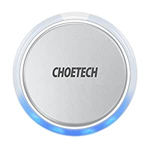 CHOETECH Ricarica Wireless Standard Wireless Charge Caricatore Wireless per Apple iPhone XS/XS Max/XR/ X/ 8/8 Plus, Galaxy S9/S9+/S8/S8+/S7/S7 Edge -Non Supporta la Ricarica Rapida