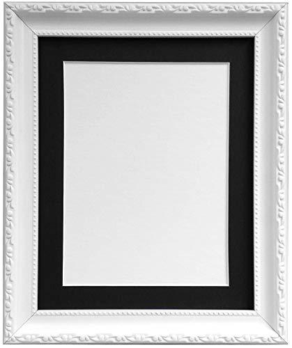 Frames by Post AP3025Foto Rahmen mit 50x 40cm Schwarz Halterung für A3Bild Größe, Kunststoff Glas, weiß, 30mm breit
