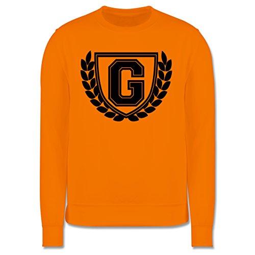 Anfangsbuchstaben - G Collegestyle - Herren Premium Pullover Orange