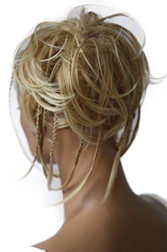 PRETTYSHOP XXL Haarteil Haargummi Hochsteckfrisuren, Brautfrisuren, VOLUMINÖS, gewellter unordentlicher Dutt hellblond #27T613A G5D