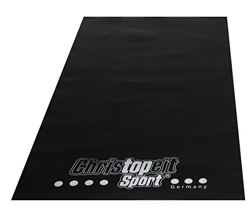 Christopeit Bodenschutzmatte L 200 x B 100 x H 0,3 cm, Schwarz, M