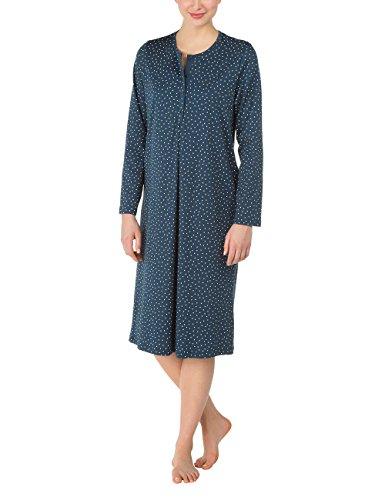 CALIDA Nightshirt Finnja, Chemise de Nuit Femme Bleu - Blau (dark denim 366)