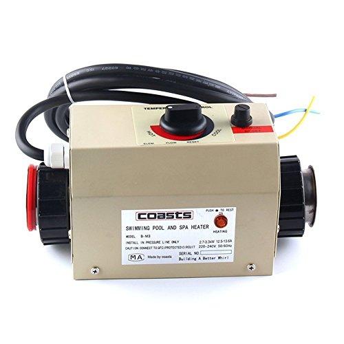 Jian Ya Na Premium Quality scaldabagno termostato 220V 3kW Piscina Riscaldamento termostato Vasca idromassaggio Piscina Pompa Acqua riscaldatore Elettrico termostato riscaldatore