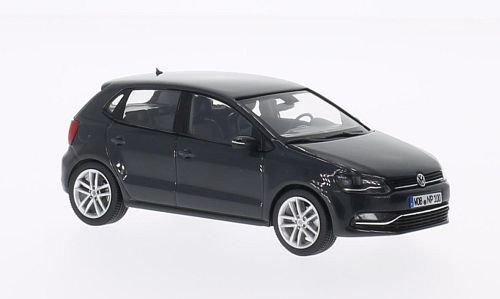 VW Polo V (6C), dunkelgrau, 2014, Modellauto, Fertigmodell, Herpa 1:43