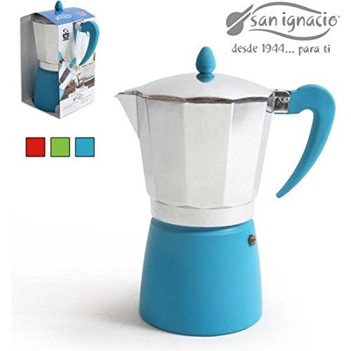 San Ignacio Cafetera 12T. Soft Touch Splash Azul
