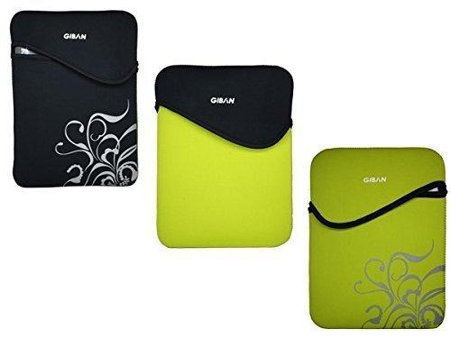 Laptop-Schutz Hülle Neogrün/Schwarz aus Neopren für 33-35,8 cm (13-14 Zoll) Notebook Tasche Ultrabook Case Netbook Etui MacBook Air/Pro iPad Tablet
