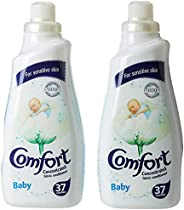 Comfort Concentrated Fabric Softener Baby, 1.5 Litre (Twin Pack)