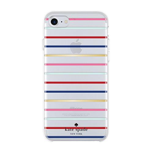 Kate Spade New York Hardshell Case Schutzhülle für Apple iPhone 7 / 8 - Gold/Multi [Transparentes hochglanz Design | Goldenes Logo | Hochwertige Materialien] - KSIPH-055-SSGM