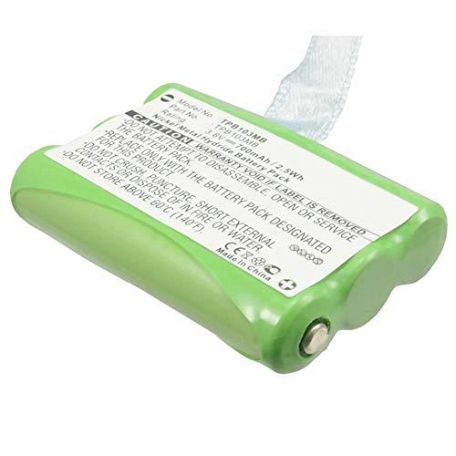 subtel® Batería Premium para Topcom Babytalker 1010 Babytalker 1020 Twintalker 3700 1030 (700mAh) TPB103MB bateria de Repuesto, Pila reemplazo, sustitución