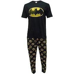 DC Comics Hombres Batman Logo Set de Pijama de Dos Piezas - Medium