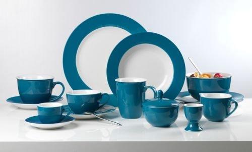 Flirt By R&B Geschirr-Serie Doppio petrol-blau Material Kaffeebecher 320 ml Doppio petrol-blau