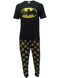 DC Comics Hombres Batman Logo Set de Pijama de Dos Piezas