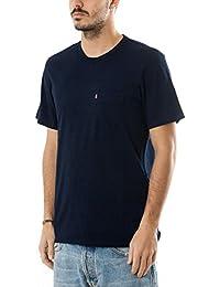 Levi's Mens Sunset Pocket T-Shirt In Indigo- Short Sleeve- Pocket To Chest-