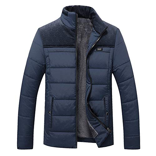 HUIHUI Winterjacke Herren Parka Mantel Slim fit Winter Jacket Plus Size (Blau,L) - Plus Size Herren-winter-mäntel