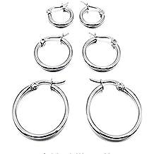 ultimo di vendita caldo prezzo limitato bene set orecchini cerchio - Amazon.it