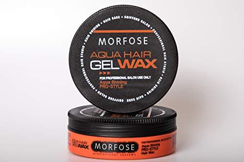 2 x Morfose Aqua Gel Wax Extra Shining mit Multivitamin Complex 2x 175ml Haargel Wax Haarwachs Haar Styling