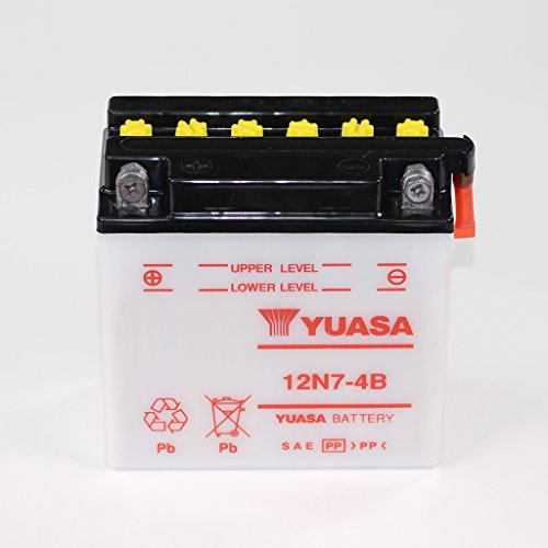Batteria 12V 7Ah 12N7-4B, umido Yuasa per PK 125vam1t-Cambio Automatico   PK 50va51t-Cambio Automatico-con E-Start   PK 50XL va51t-Cambio Automatico-senza E-Start