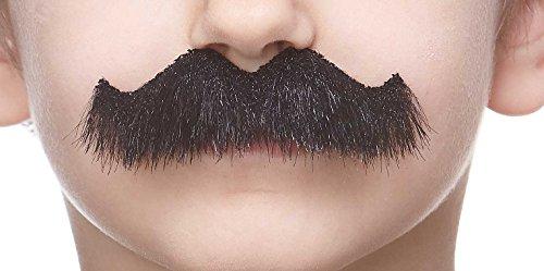 Mustaches Selbstklebende Kleiner Rocking Grundpa's Fälschen Schnurrbart für Kinder Schwarz Glänzender Farbe