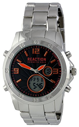 Kenneth Cole Reaction analogico digitale orologio da uomo silver-tone bracciale in acciaio 10032093